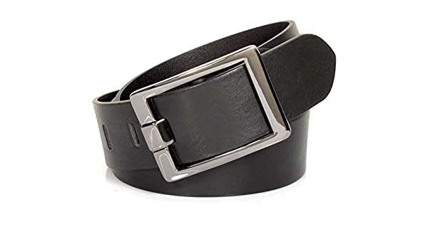 Mens Real Genuine Leather Belt Black Brown White 1.5 Wide S-XL Casual Jeans CU8