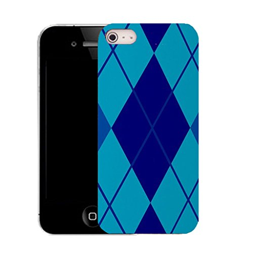 Mobile Case Mate IPhone 4 clip on Silicone Coque couverture case cover Pare-chocs + STYLET - blue respectful pattern (SILICON)
