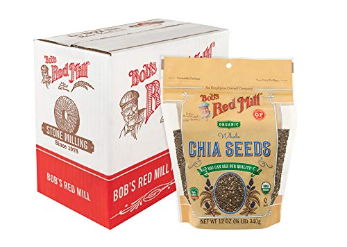 Bob's Red Mill Resealable Organic Chia Seeds, 12 Oz (6 (Best Diamond Chia Seeds)