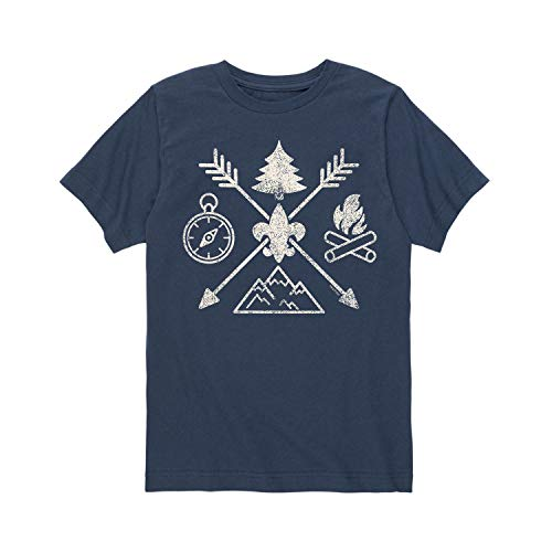 Boy Scouts of America Camp Symbols - Youth Short Sleeve Tee - America Camps Boy Scouts Of