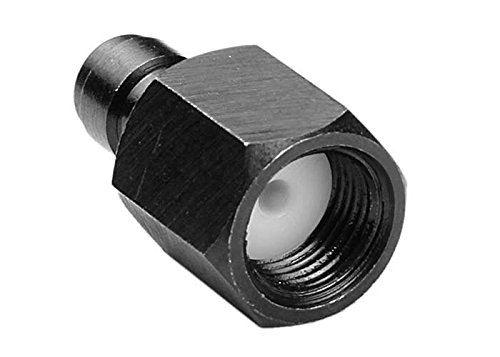 Air Venturi Male Quick-Disconnect, 1/8 BSPP Female Threads, Steel, Rated to 5000 PSI, Incl. Delrin Seal ()