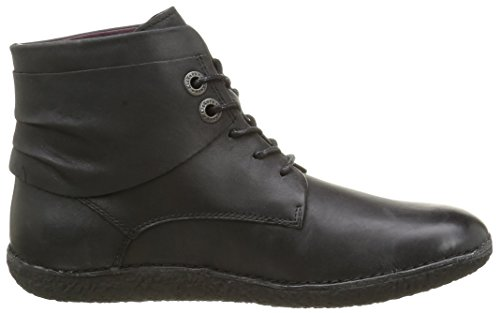 Kickers Hobylow, Zapatos de Cordones Derby para Mujer Negro - Schwarz (8)