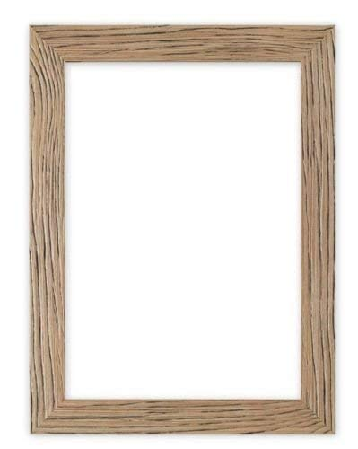 Memory Box Driftwood Effect Flat Sleek Picture/Photo/Poster Frame with Real Glass-Moulding 30mm Wide & 16mm Deep - A4 Natural ()