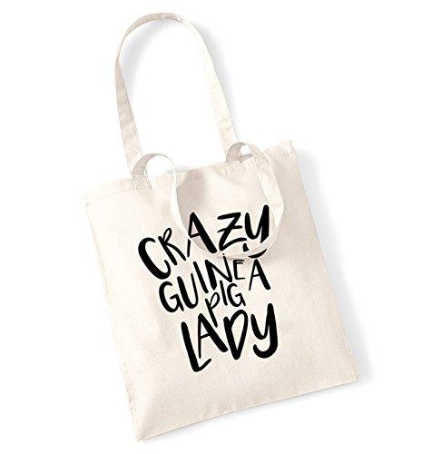 pig Crazy Crazy bag guinea guinea pig lady Natural tote 4dqfw
