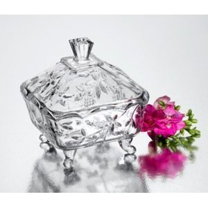 Small Grape Design Crystal Canister by Studio Silversmith