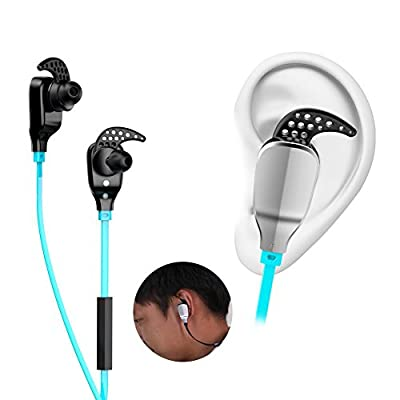 PYRUS Wireless Headphones Sport Stereo In Ear Earphones Noise-Cancelling Bluetooth Headsets Sports&running in Gym for iPhone,iPad, Samsung and Android Smartphones-Blue
