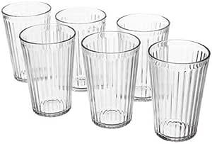 كأس, زجاج شفاف- 6 قطع