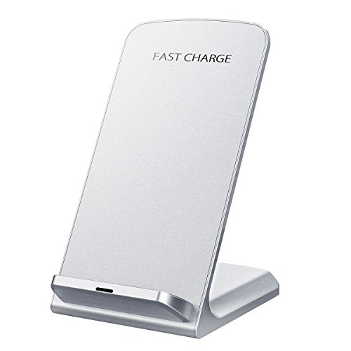 Wireless Charger, Seneo Upgraded Qi Certified 10W Fast Wireless Charger Charging Pad Stand (No AC Adapter) for Galaxy S9/S9+ Note 8/5 S8/S8+ S7/S7 Edge S6 Edge+, Standard Qi Charger for iPhoneX/8/8+