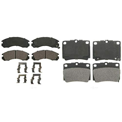 AutoDN Front and Rear 8PCS Disc Brake Pads Set For MITSUBISHI MONTERO SPORT 1997-04 (Montero Front Brake)