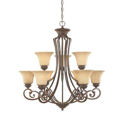 (Designers Fountain 81889-FSN Mendocino 9 Light Chandelier, 31