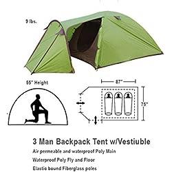 3 Man Tent with Large Vestibule