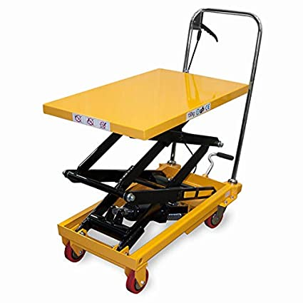 Amazon com: JORESTECH Hydraulic Scissor Lift Table Push Truck Cart