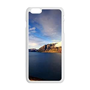 Blue River And Mountains White Phone Case for Iphone6 plus