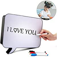 Cinema Light Box LED Bubble Handwriting DIY Speech Sign A4 Message Drawing Board for Birthday Party Wedding Wall Bar Halloween Merry Christmas Decoration Gift