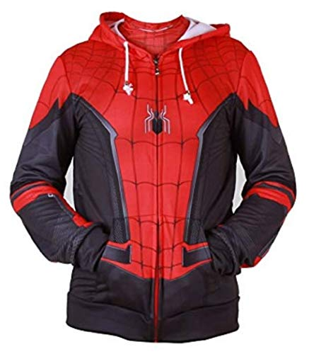 (ComicCosplay Spider-Man Hoodie | Premium Quality 3D Sublimation Print Design (Far from Home,)