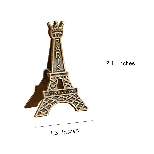 Wangyue Vintage Eiffel Tower Card Holder Clips Table Number Holder, 8Pcs