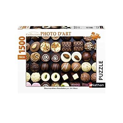 Nathan 1500 Pezzi Casse Tete Puzzle Adulto Gourmandises Cioccolatini Dolci 4005556877966 Nant