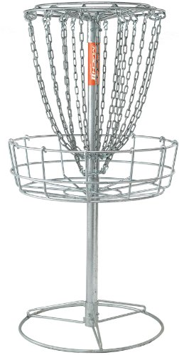 DGA Mach 2 Disc Golf Basket – Portable Heavy-Duty Outdoor Galvanized Steel Disc Golf Target by DGA