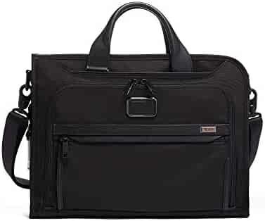 TUMI - Alpha 3 Slim Deluxe Portfolio Bag - Organizer Briefcase for Men and Women