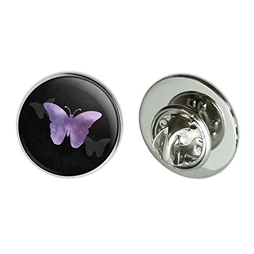 (GRAPHICS & MORE Purple Butterfly Watercolor Silhouette Metal 0.75
