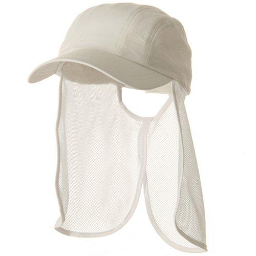 e4Hats.com UV 5 Panel Tuck Away Flap Cap - White OSFM
