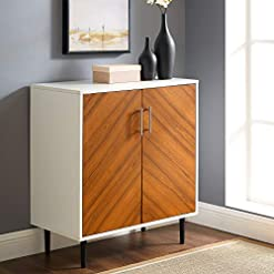 Kitchen Walker Edison AZF28BMHPSW Mid Century Modern Bookmatched Kitchen Buffet Accent Entryway Bar Cabinet Storage Entry Table… modern buffet sideboards
