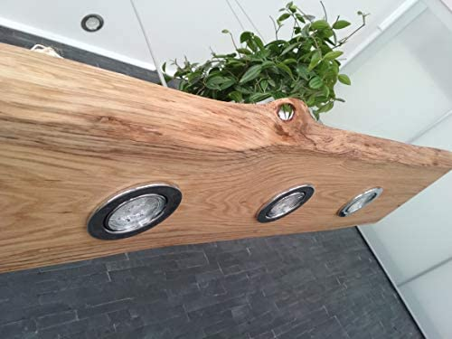Holz friesenleuchten Hängelampe Esszimmer Pendellampe Pendelleuchte rustikal Led Vintage Leuchte Eiche dimmbar Massiv 50-200 cm GU10 (100cm)