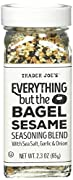 NEW Trader Joe's Everything But the Bagel Sesame Seasoning Blend 2.3 Oz This simple (yet exemplary) blend of sesame seeds (white and black), poppy seeds, dried garlic & onion, and sea salt flakes is all you need for bringing that crunchy, roasted...