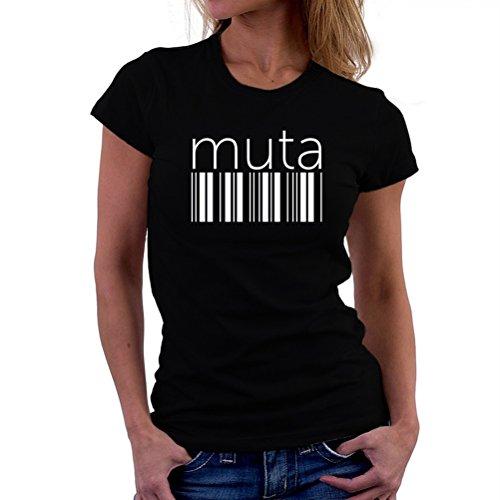 製造プロフェッショナル衝突するMuta barcode 女性の Tシャツ