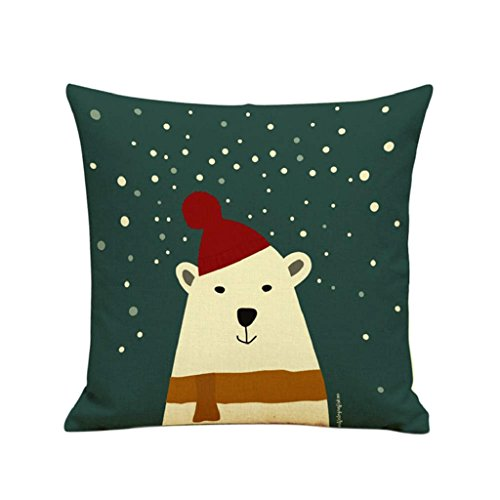 LUNIWEI Pillow Case Christmas Home Decor Bed Sofa Cushion Cover(No Pillow Insert)