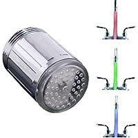 LED lumière Embout Robinet D'eau évier lavabo Sonde Température Mousseur Faucet