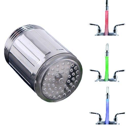 LED lumiè re Embout Robinet D'eau é vier lavabo Sonde Tempé rature Mousseur Faucet EXCITES_FR