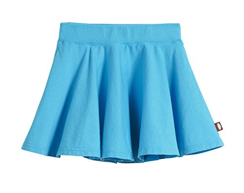 City Threads Little Girls' Cotton Twirly Skirt Perfect for Sensitive Skin / SPD / Sensory Friendly For School or Play Fall/Spring, Turquoise, Size (Twirly Girls)