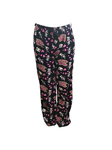 leepwear Plush Fleece Lounge Pajama Sleep Pants S To XL (Black, L) ()