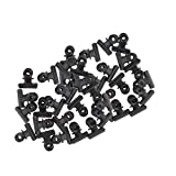 B Blesiya 40Pieces 22mm Metal Bulldog Clips Letter Grip Photo Clips Office Supply Black Color Premium Iron