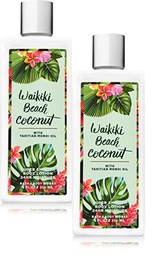 Bath Body Works 2 Pack Waikiki Beach Coconut Super Smooth