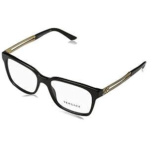Versace VE3218 Eyeglass Frames GB1-55 - Black VE3218-GB1-55