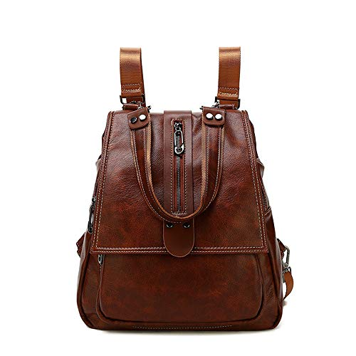 - Women Backpack Purse Waterproof PU Leather Rucksack,Lightweight Casual Fashion Shoulder Bag Handbags for Women & Teenage Girls