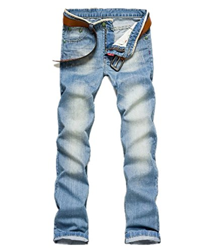 Party2014 New Fashion Classic Men Stylish Straight Slim Fit Trousers Jean Pants