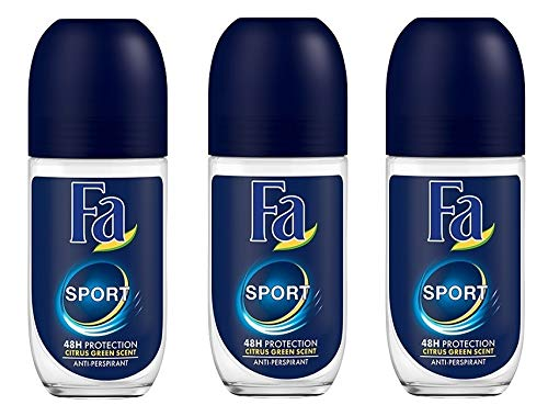 Deodorant Hour Fa 24 - Fa Deodorant 1.7 Ounce Roll-On Sport (50ml) (3 Pack)