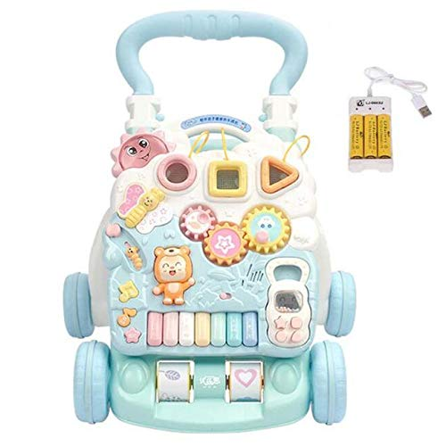 感謝の声続々! 3歳以上 赤ちゃん B07GZRRCQZ ロールオーバー防止 子供 ウォーカー トロリー バッテリー 赤ちゃん 音楽 バッテリー 2スピード調整 スピード ハンドルを増やす 早期教育 脳力を発達させる 学習 おもちゃ B07GZRRCQZ, リビングソウル:7bcaf54e --- a0267596.xsph.ru