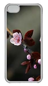 iPhone 5C Case Cover - Purple Spring Custom Design PC Case for Apple iPhone 5C - Transparent