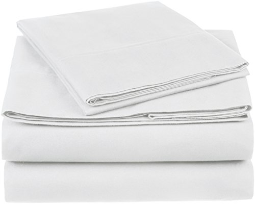 (Pinzon 300 Thread Count Organic Cotton Sheet Set - Twin XL, White)