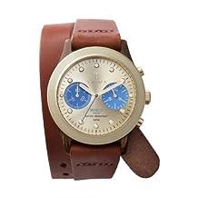 Triwa Womens DCAC103 Turtle Twist Brasco Chrono Gold Dial Watch