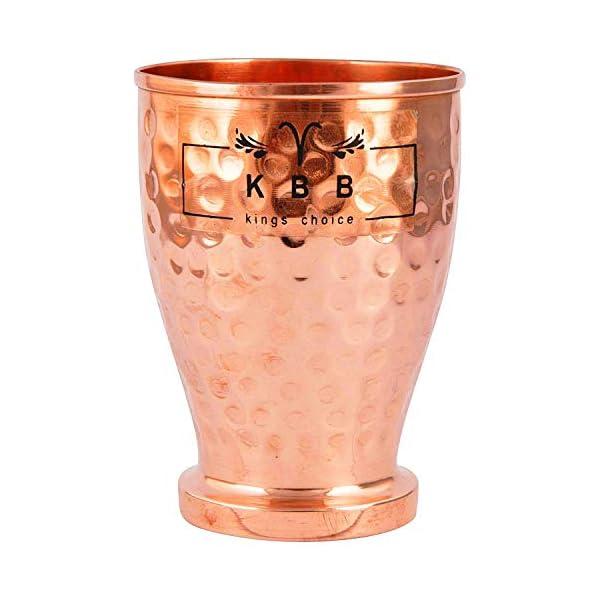 KBB Hammered Designer Jaam Copper Glass/Tumbler 450 ml (Pack of 1)
