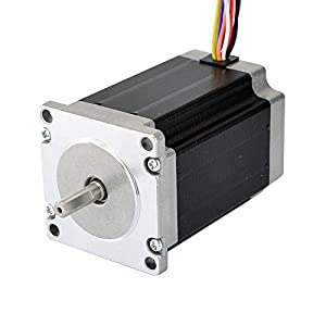 Nema 23 Stepper Motor 2.83Nm 4A 8-wire 6.35mm Dual Shaft CNC Mill Lathe Router from OSM Technology Co.,Ltd.