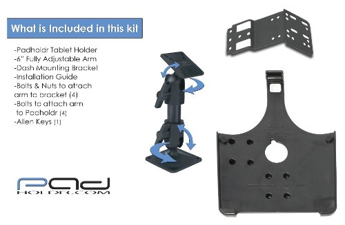 Padholdr Eco Series iPad Dash Kit without Charging Dock for 2005-2014 Chevy//GMC Vehicles Pad Holdr PHECO751102305-1