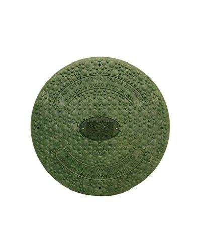 Jackel Septic Tank Riser Cover (18 Inch Diameter - GREEN) ()