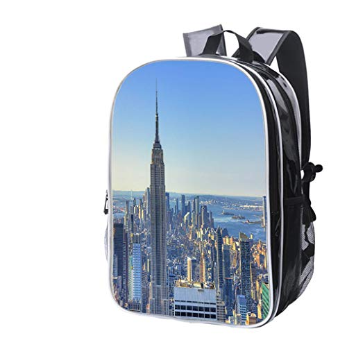 High-end Custom Laptop Backpack-Leisure Travel Backpack Morning in Mahattan NYC Water Resistant-Anti Theft - Durable -Ultralight- -