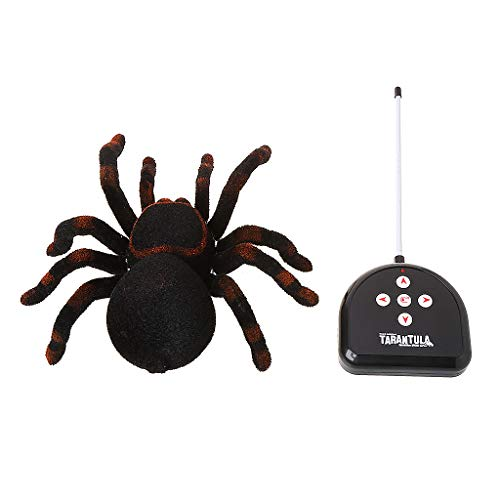 Autones Halloween Spider Toy,Infrared Remote Control Simulation Fake Tarantula Spider Halloween Trick Toy
